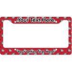 School Mascot License Plate Frame (Personalized)