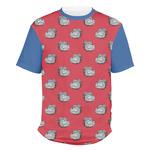 School Mascot Men's Crew T-Shirt (Personalized)