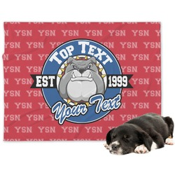 School Mascot Minky Dog Blanket (Personalized)
