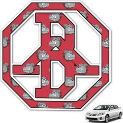 School Mascot Monogram Car Decal (Personalized)