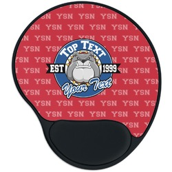 School Mascot Mouse Pad with Wrist Support