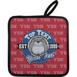 School Mascot Pot Holder w/ Name or Text
