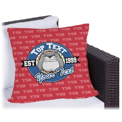 School Mascot Outdoor Pillow (Personalized)