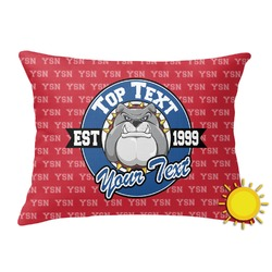 School Mascot Outdoor Throw Pillow (Rectangular) (Personalized)