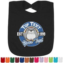 School Mascot Baby Bib - 14 Bib Colors (Personalized)