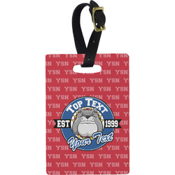School Mascot Rectangular Luggage Tag (Personalized)