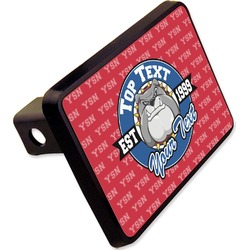 "School Mascot Rectangular Trailer Hitch Cover - 2"" (Personalized)"