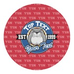 School Mascot Round Decal - Custom Size (Personalized)