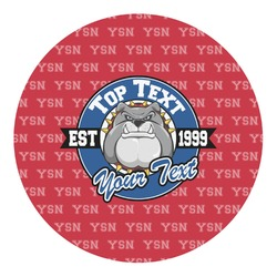 School Mascot Round Decal (Personalized)