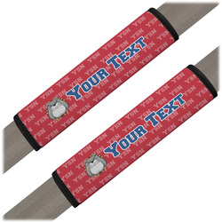 School Mascot Seat Belt Covers (Set of 2) (Personalized)