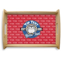 School Mascot Natural Wooden Tray (Personalized)