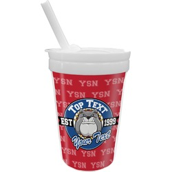 School Mascot Sippy Cup with Straw (Personalized)