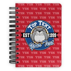 School Mascot Spiral Bound Notebook - 5x7 (Personalized)