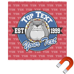 School Mascot Square Car Magnet (Personalized)