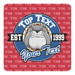 School Mascot Square Decal - Custom Size (Personalized)