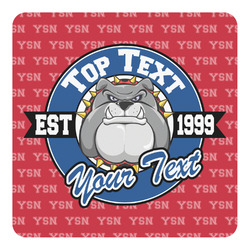 School Mascot Square Decal - Large (Personalized)
