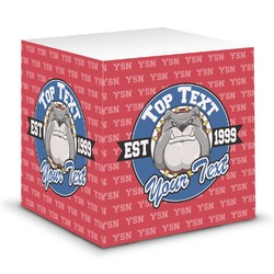 School Mascot Sticky Note Cube (Personalized)