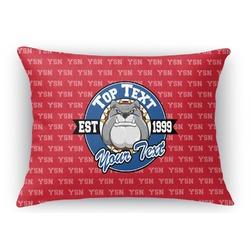 School Mascot Rectangular Throw Pillow Case (Personalized)