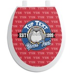 School Mascot Toilet Seat Decal (Personalized)