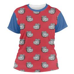 School Mascot Women's Crew T-Shirt (Personalized)