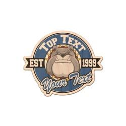 School Mascot Genuine Maple or Cherry Wood Sticker (Personalized)