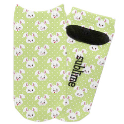 Easter Bunny Adult Ankle Socks (Personalized)
