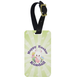 Easter Bunny Aluminum Luggage Tag (Personalized)