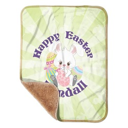 """Easter Bunny Sherpa Baby Blanket 30"""" x 40"""" (Personalized)"""