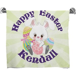 Easter Bunny Full Print Bath Towel (Personalized)