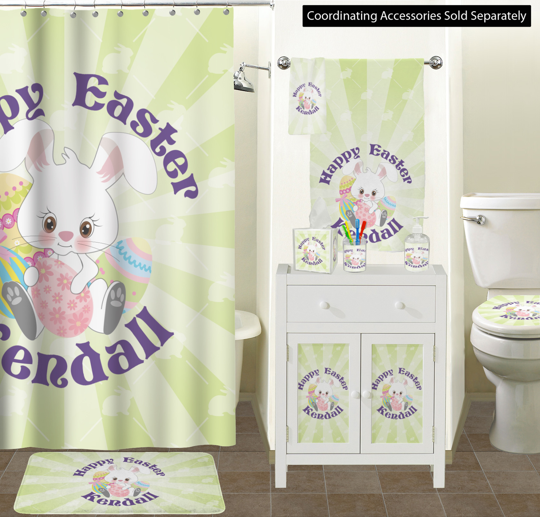 Easter Bunny Bathroom Scene Custom Decor