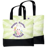 Easter Bunny Beach Tote Bag (Personalized)