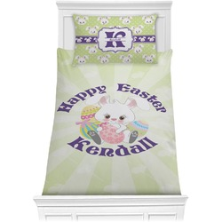 Easter Bunny Comforter Set - Twin XL (Personalized)