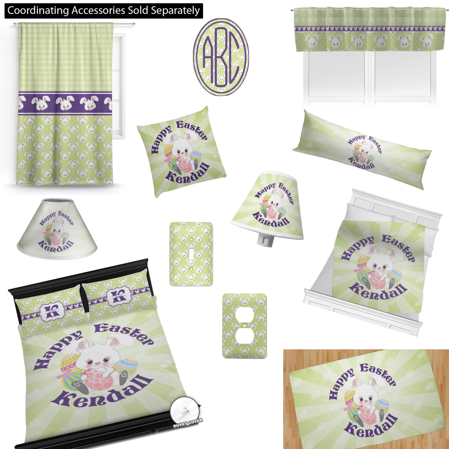 Easter Bunny Comforter Set - Twin XL (Personalized ...
