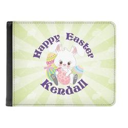 Easter Bunny Genuine Leather Men's Bi-fold Wallet (Personalized)