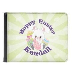 Easter Bunny Genuine Leather Men's Bi-fold Wallet (Personalized)