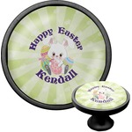 Easter Bunny Cabinet Knob (Black) (Personalized)