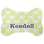 Easter Bunny Bone Shaped Dog Food Mat (Personalized)