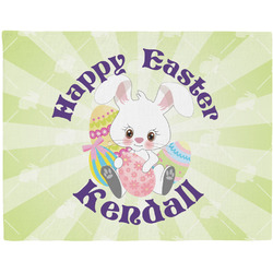 Easter Bunny Woven Fabric Placemat - Twill w/ Name or Text