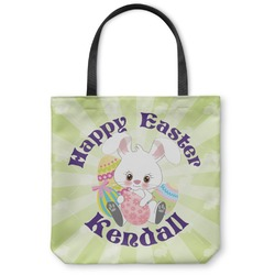 Easter Bunny Canvas Tote Bag (Personalized)