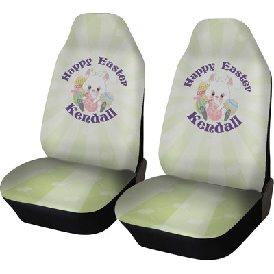 Easter Bunny Car Seat Covers (Set of Two) (Personalized)
