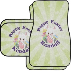 Easter Bunny Car Floor Mats Set - 2 Front & 2 Back (Personalized)