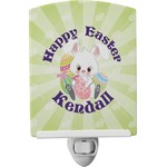 Easter Bunny Ceramic Night Light (Personalized)