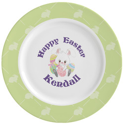 Easter Bunny Ceramic Dinner Plates (Set of 4) (Personalized)