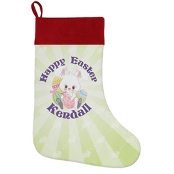 Easter Bunny Holiday / Christmas Stocking (Personalized)