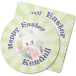 Easter Bunny Rubber Backed Coaster (Personalized)
