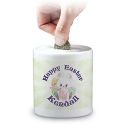 Easter Bunny Coin Bank (Personalized)