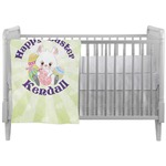 Easter Bunny Crib Comforter / Quilt (Personalized)