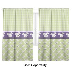 """Easter Bunny Curtains - 40""""x54"""" Panels - Lined (2 Panels Per Set) (Personalized)"""