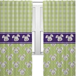 Easter Bunny Curtains (2 Panels Per Set) (Personalized)