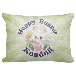 "Easter Bunny Decorative Baby Pillowcase - 16""x12"" (Personalized)"